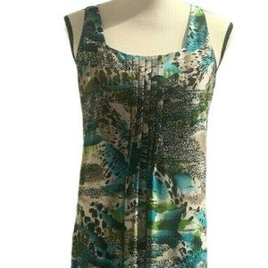 Glamour Womens Multicolor Printed Maxi Dress Sz 10